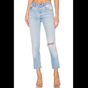 RE/DONE levis light wash distressed - size 27